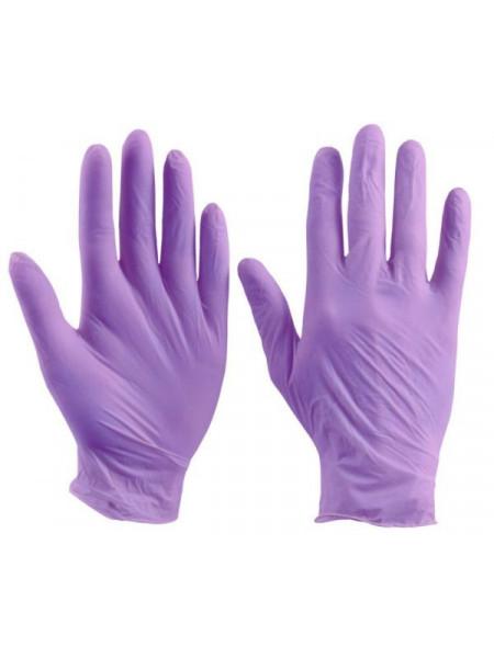 Перчатки нитриловые плотные Safe Care фиолетовые