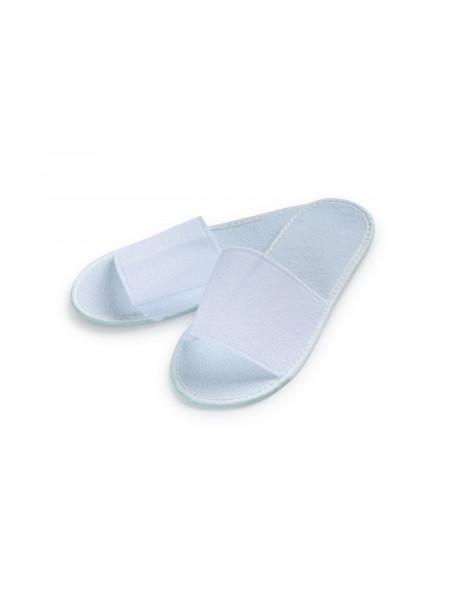 Тапочки одноразовые «ПРОЦЕДУРНЫЕ» белые 2 мм